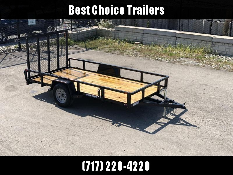 """2021 Sure-Trac 6x12' Tube Top Utility Landscape Trailer 2990# GVW * 2"""" TUBE TOP RAIL * 2X2"""" TUBE GATE C/M + SPRING ASSIST + FOLD FLAT * TOOLESS GATE REMOVAL * SPARE MOUNT * PROTECTED WIRING * SET BACK JACK * TRIPLE TUBE TONGUE * STAKE POCKETS * BULLET LED"""