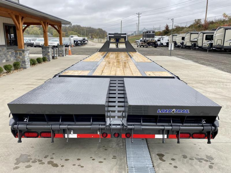 "2021 Load Trail 102x32' Gooseneck Beavertail Deckover Trailer 22000# GVW * FULL WIDTH RAMPS (STAND UP OR FLIPOVER) * DEXTER AXLES * HDSS SUSPENSION * SPARE TIRE * 12""/19#  I-BEAM FRAME * PIERCED FRAME * PRIMER * 2-3-2 WARRANTY"