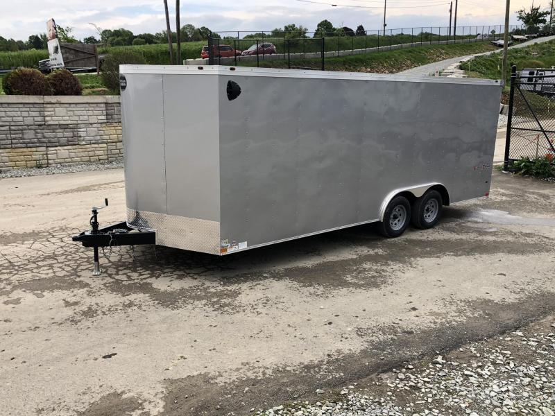 "2021 Wells Cargo 8.5x24' Fastrac DELUXE Enclosed Cargo Trailer 7000# GVW * SILVER EXTERIOR * RAMP DOOR * V-NOSE * .030 EXTERIOR * 6'6"" HEIGHT * TUBE STUDS * 3/8"" WALLS * 1 PC ROOF * 16"" O.C. WALLS * BULLET LED'S"