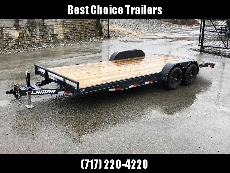 2021 Lamar 7x18' Car Hauler Trailer 9990# GVW * CHARCOAL POWDERCOATING * 7K DROP LEG JACK * CHANNEL C/M * ADJUSTABLE COUPLER * RUBRAIL