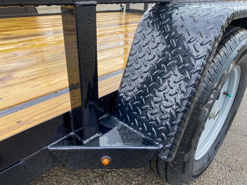 "2021 Sure-Trac 7x14' ATV Utility Landscape Trailer 2990# GVW * 2"" TUBE TOP RAIL * ATV RAMPS * FULL WRAP TONGUE * 2X2"" TUBE GATE C/M + SPRING ASSIST + FOLD FLAT * SPARE MOUNT * PROTECTED WIRING * SET BACK JACK * TRIPLE TUBE TONGUE * STAKE POCKETS * BULLET"