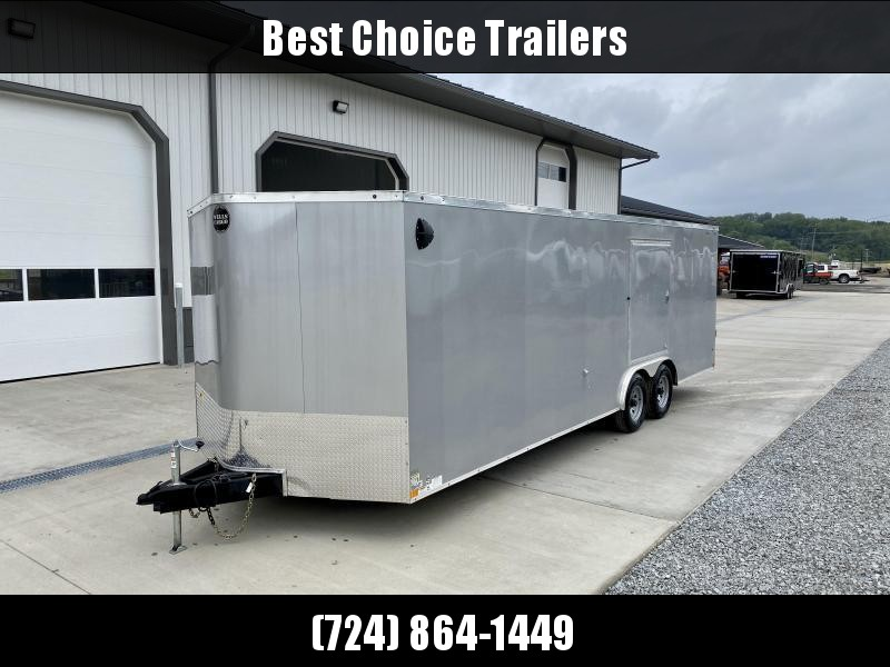 "2020 Wells Cargo 8.5x24' RoadForce Enclosed Car Trailer 9990# GVW * CHARCOAL EXTERIOR * 5200# AXLES * RAMP DOOR * SCREWLESS .030 EXTERIOR * 6'6"" HEIGHT * TUBE STUDS * 1 PC ROOF * 16"" O.C. WALLS/FLOOR * RV DOOR * ESCAPE HATCH * TORSION"