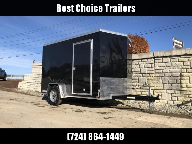 "2021 Sure-Trac 6x10' Enclosed Cargo Trailer 2990# GVW * BLACK EXTERIOR * V-NOSE * RAMP * .030 SEMI-SCREWLESS EXTERIOR * 4"" TUBE FRAME * TUBE STUDS * RV DOOR * BULLET LED'S * UNDERCOATED"