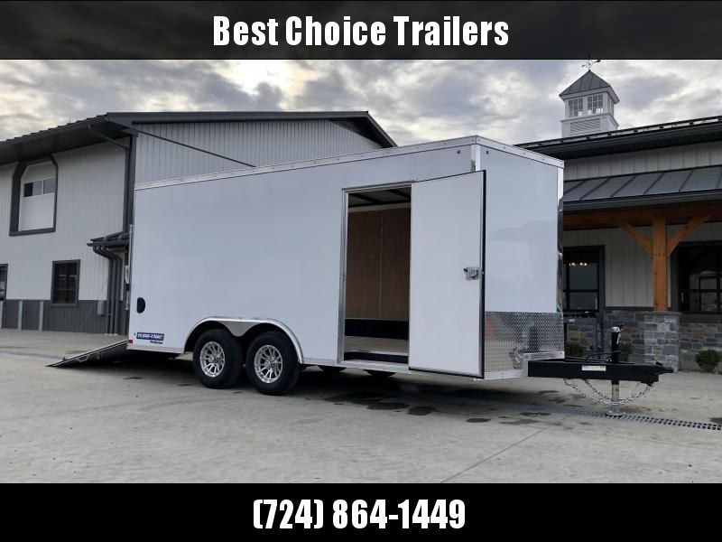 2021 Sure-Trac 8.5x16' Enclosed Cargo Trailer 9900# GVW * WHITE * TORSION * 5200# AXLES * CONTRACTOR/LANDSCAPER TRAILER