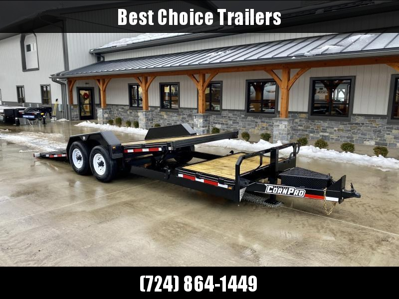 2021 Corn Pro 7x17+4 Gravity Tilt Equipment Trailer 12000# GVW * TORSION SUSPENSION * LOW LOAD ANGLE * TOOLBOX * HD COUPLER * URETHANE PAINT * SPARE TIRE MOUNT * LED LIGHTING * 12K DROP LEG JACK * RUBRAIL/STAKE POCKETS
