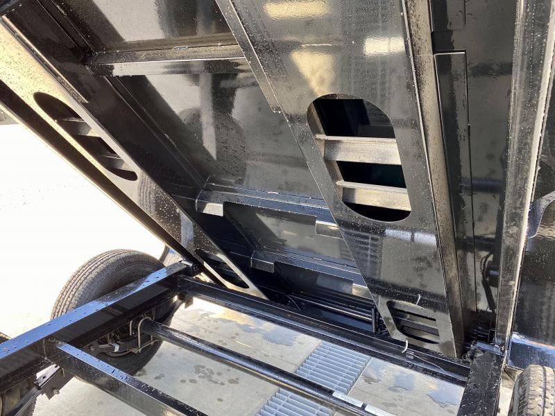 "2021 Ironbull 6x12' Dump Trailer 9990# GVW * DROP AXLES - SUPER LOW PROFILE * TARP KIT * SCISSOR HOIST * STACKED I-BEAM FRAME * 6"" TUBE BEDFRAME * 2PC 10GA BED & WALLS W/ KEYWAY * COMBO GATE * UNDERBODY BED RUNNERS * DEXTER AXLES * SPARE MOUNT * 2-3-2 WAR"
