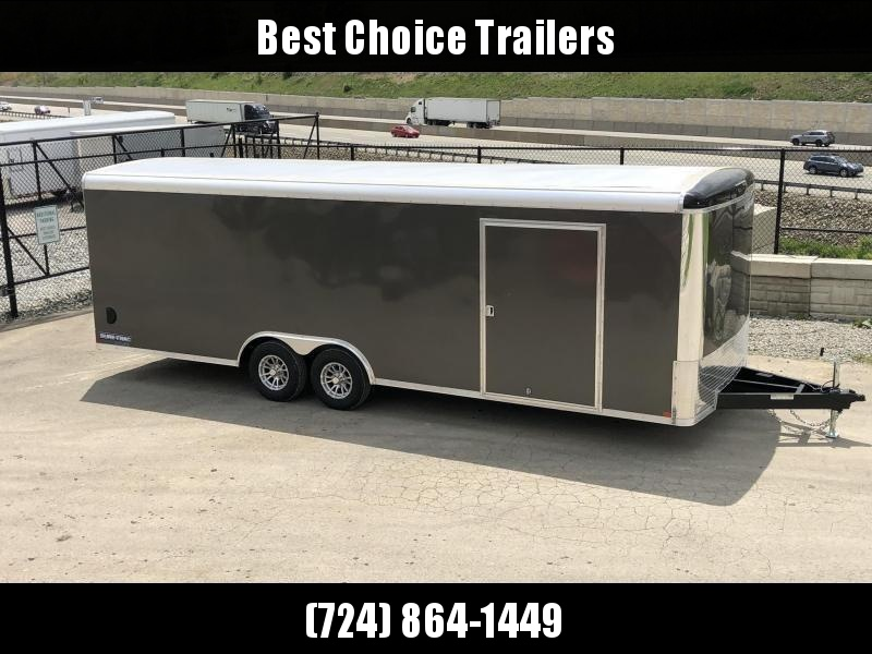 "2021 Sure-Trac 8.5x24' Pro Series Enclosed Car Hauler Trailer 9900# GVW * TORSION * CHARCOAL EXTERIOR * .030 SCREWLESS EXTERIOR * ROUND TOP * ALUMINUM WHEELS * 1 PC ROOF * 7K DROP JACK * 6"" TUBE FRAME * 48"" RV DOOR * PLYWOOD * 5200# AXLES * TUBE STUDS"