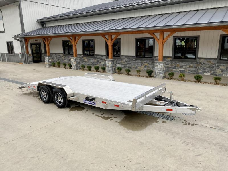 2021 Sure-Trac 7x18' All Aluminum Car Hauler 7000# GVW * EXTRUED ALUMINUM FLOOR * REAR SLIDE OUT RAMPS * REMOVABLE FENDERS * SEALED WIRING HARNESS * STAKE POCKETS/RUBRAIL * 4' EXTRUDED DOVETAIL * ALUMINUM WHEELS * SPARE TIRE MOUNT