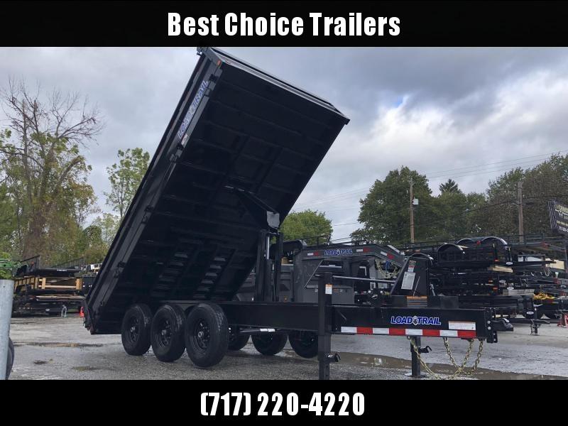 """2021 Load Trail 8x16' Deckover Dump Trailer 21000# GVW * 4' SIDES * OVERSIZE 6X21"""" SCISSOR HOIST * 10"""" I-BEAM FRAME * TARP KIT * 3-WAY GATE * 12K JACK * 6"""" TUBE BED FRAME * 110V CHARGER * 10GA SIDES/FLOOR * INTEGRATED KEYWAY * POWDER PRIMER * DEXTER'S"""