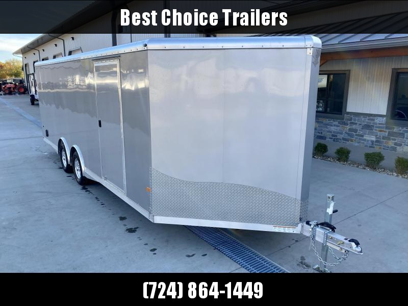 2021 NEO 8.5x22' NCBS Aluminum Enclosed Car Trailer 9990# GVW * POWER PKG 110V AND 12V * NUDO FLOOR/RAMP * FULL ESCAPE DOOR * SPREAD AXLE * INTEGRATED FRAME * REAR SPOILER * ALUMINUM WHEELS * SCREWLESS * 1PC ROOF * RV DOOR * NXP LATCHES