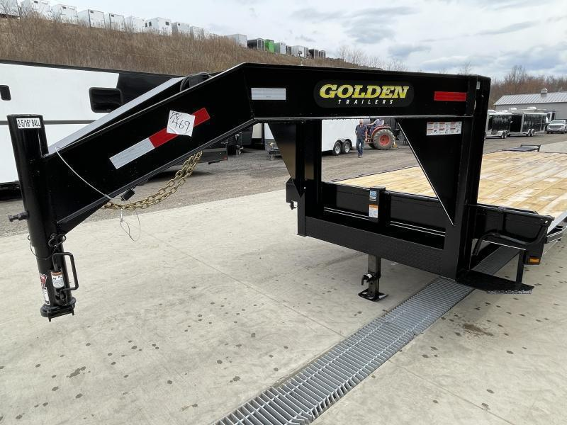 2022 Golden by Corn Pro 102x30' Beavertail Gooseneck Deckover Trailer 14000# GVW * WEDGE FLIPOVER RAMPS + SPRING ASSIST * RUBRAIL/STAKE POCKETS * SPARE TIRE MOUNT * 12K DROP LEG JACK * MUDFLAPS * CHAIN TRAY