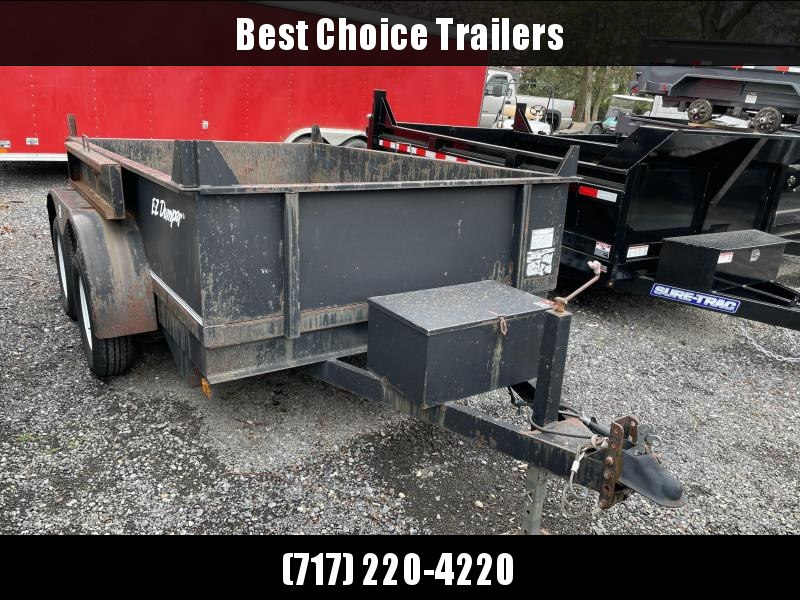"USED EZ Dumper 6x10' Dump Trailer 7000# GVW * RAMPS * 6"" TUBE FRAME * OVERSIZE PISTON"