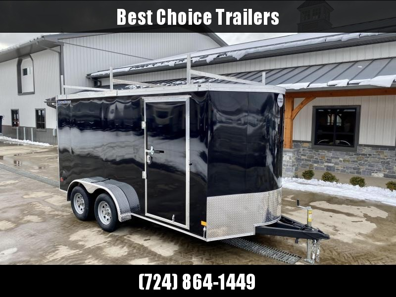 """2021 Wells Cargo 7x14' Road Force Enclosed Contractor Trailer 7000# GVW * SILVER * CONTRACTOR PACKAGE * 3 LADDER RACKS * 3/4"""" WALLS * SCREWLESS .030 EXTERIOR * 1 PC ALUM ROOF * 6'6"""" HEIGHT * TUBE STUDS * RV DOOR * ARMOR GUARD * EXTENDED TRIPLE TUBE TONG"""