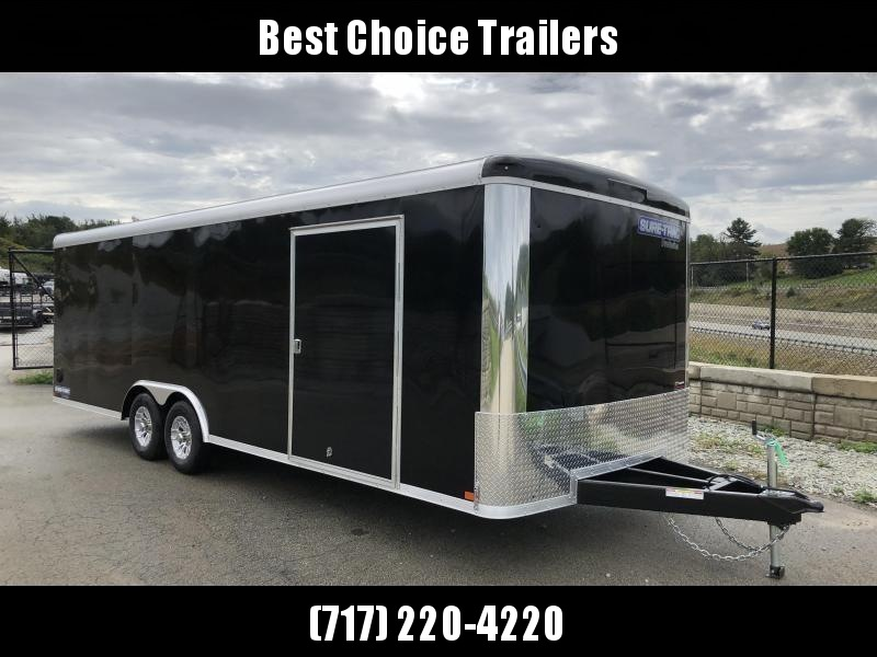 "2020 Sure-Trac 8.5x20' Enclosed Car Trailer 9900# GVW - STRCH10224TA-100 * BLACK * SCREWLESS EXTERIOR * 1PC ROOF * ALUM WHEELS * RV DOOR * UNDERCOATED * TUBE STUDS * PLYWOOD * 48"" SD"