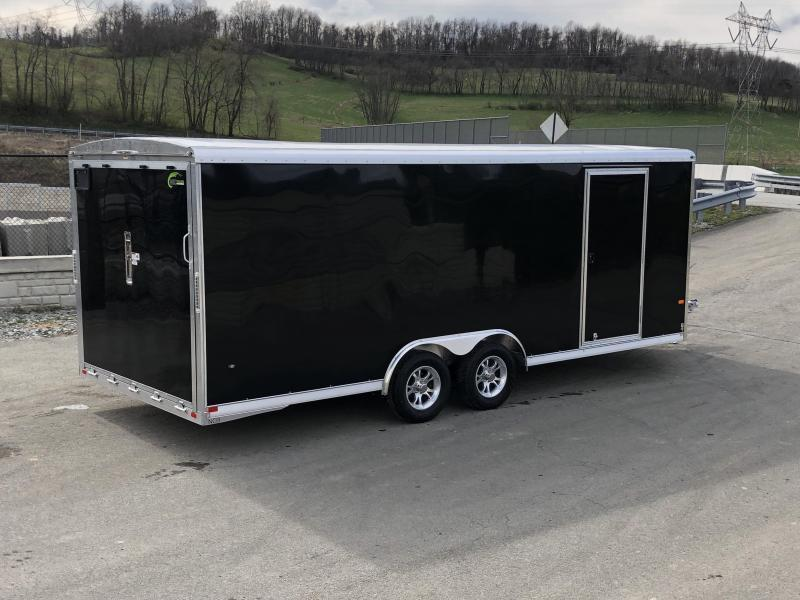 2021 NEO 8.5x20' Aluminum Enclosed Car Hauler Trailer 7000# GVW * ROUND TOP * NXP RAMP * ALUMINUM WHEELS * CHARCOAL EXTERIOR * ESCAPE HATCH