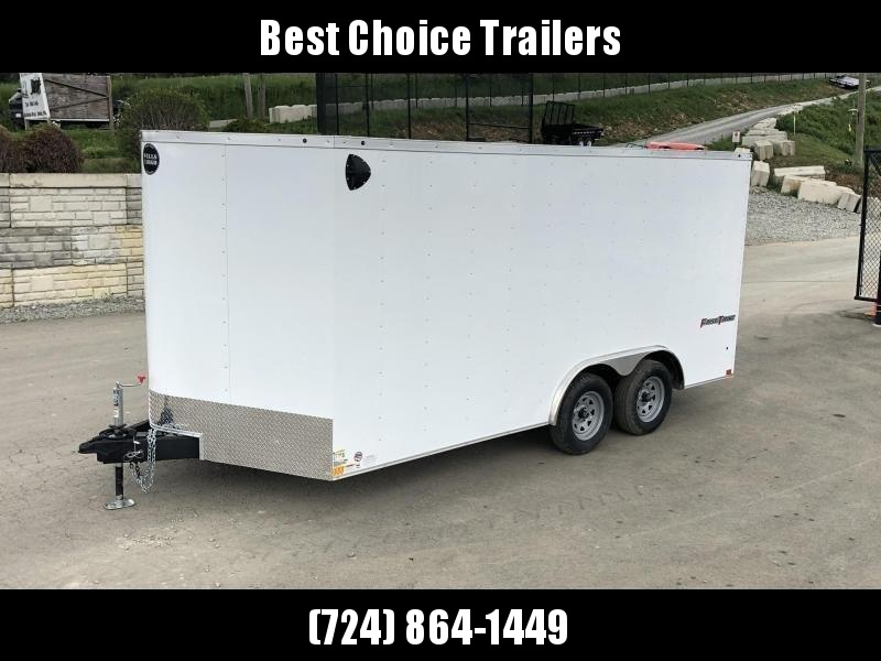 2021 Wells Cargo 8.5x16' Fastrac DELUXE Enclosed Car Trailer 7000# GVW *  CHARCOAL EXTERIOR * RAMP DOOR