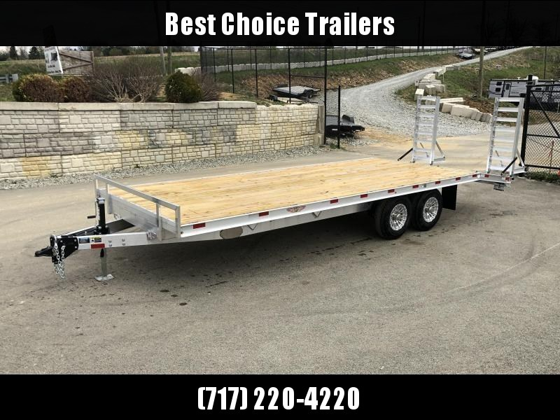 2020 H&H 102x20' Aluminum Flatbed Deckover Trailer 9900# GVW * STRAIGHT DECK * STACKED CHANNEL FRAME * CHANNEL C/M * 12K JACK * ADJUSTABLE COUPLER * ALUMNIUM WHEELS