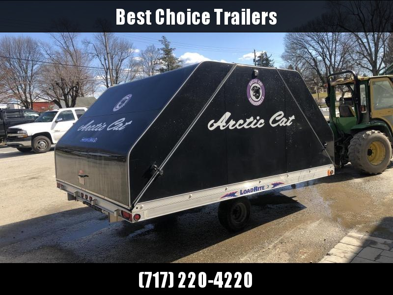 USED 2005 Load Rite 2-place sled or bike Aluminum Enclosed Cargo Trailer