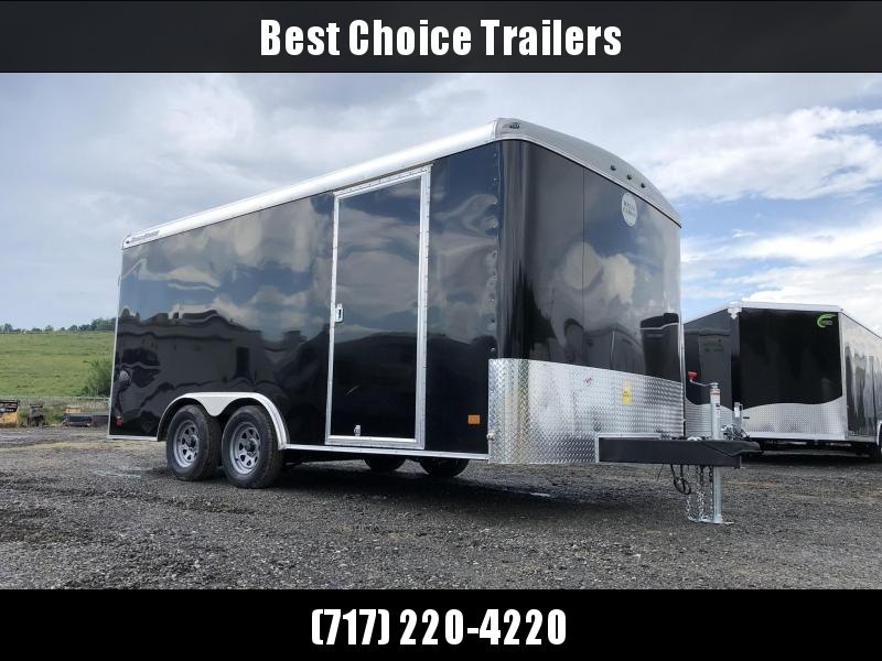 2021 Wells Cargo 8.5x16' Road Force Enclosed Cargo Trailer 7000# GVW * BLACK EXTERIOR * RAMP DOOR * SCREWLESS EXTERIOR