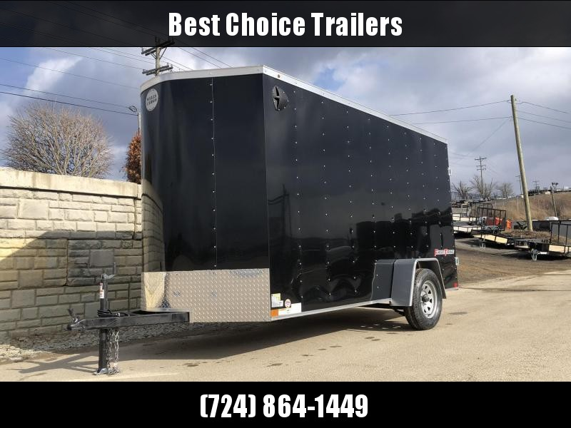 "2021 Wells Cargo 6x12' Fastrac DELUXE Enclosed Cargo Trailer 2990# GVW * BLACK EXTERIOR * RAMP DOOR * V-NOSE * .030 EXTERIOR * 6'6"" HEIGHT * TUBE STUDS * 3/8"" WALLS * 1 PC ROOF * 16"" O.C. WALLS * BULLET LED'S"