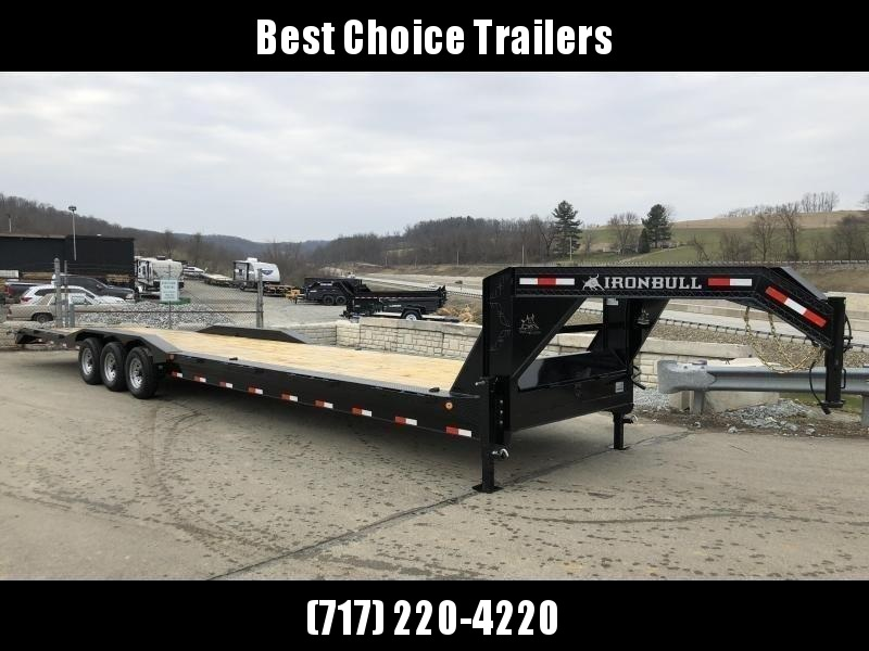 "2020 Ironbull 102x40' Gooseneck Car Hauler Equipment Trailer 21000# * FULL WIDTH RAMPS * 102"" DECK * DRIVE OVER FENDERS * BUGGY HAULER * DUAL JACKS * TOOLBOX"