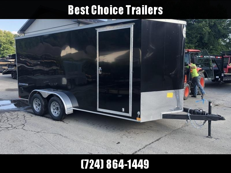 "2020 Wells Cargo 7x16' Road Force Enclosed Cargo Trailer 7000# GVW * BLACK EXTERIOR * RAMP DOOR * V-NOSE * SCREWLESS .030 EXTERIOR * 6'6"" HEIGHT * TUBE STUDS * 1 PC ROOF * 16"" O.C. WALLS/FLOOR * RV DOOR * ARMOR GUARD * BULLET LED'S"