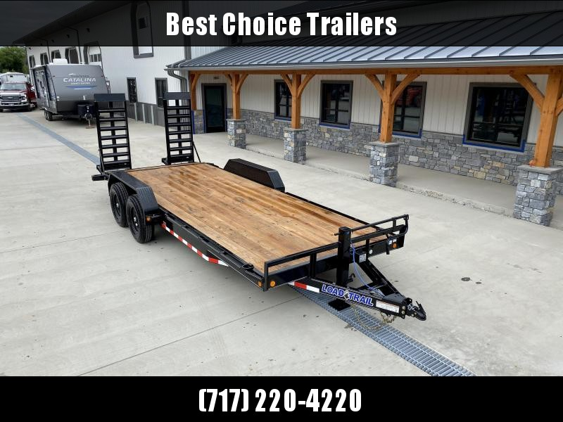 2020 Load Trail 7x20 Equipment Trailer 14000# GVW * DELUXE STAND UP RAMPS * D-RINGS/STAKE POCKETS * ADJUSTABLE COUPLER * 12K DROP LEG JACK * COLD WEATHER * DEXTERS * 2-3-2 * POWDER PRIMER * RUBRAIL