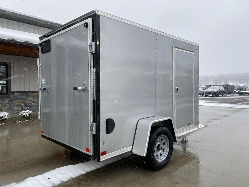 """2021 ITI Cargo 6x10' Enclosed Cargo Trailer 2990# GVW * SILVER EXTERIOR * .030 SEMI-SCREWLESS * 1 PC ROOF * 3/8"""" WALLS * 3/4"""" FLOOR * 16"""" STONEGUARD * HIGH GLOSS PAINTED FRAME"""