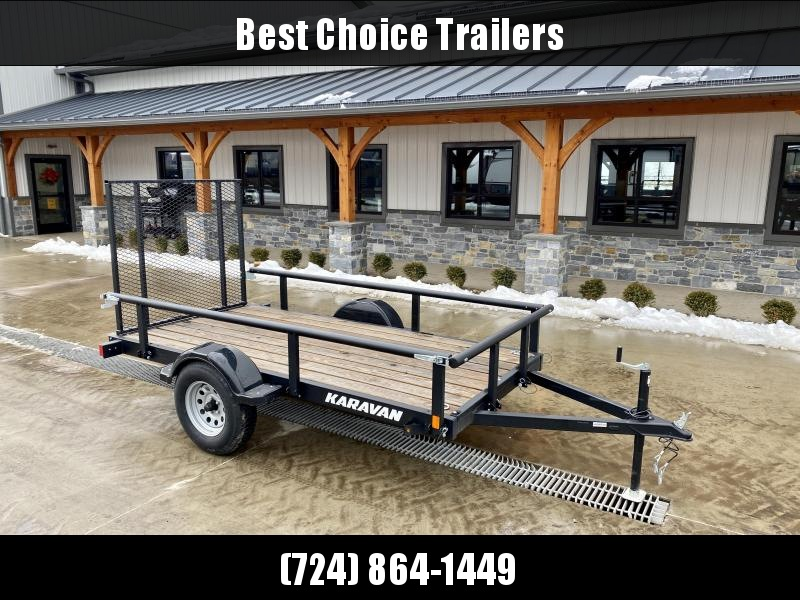 USED 2020 Karavan Trailers 5x10' Utility Landscape Trailer 2990# GVW * PIPE TOP * REMOVEABLE SIDES * TUBE GATE * D-RINGS