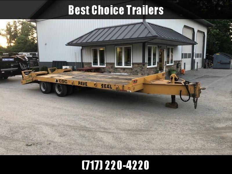 USED Eager Beaver 102x25+5' Beavertail Deckover Flatbed Trailer 47100# GVW * AIR BRAKES * FLIPOVER RAMPS * 2 SPEED JACK * OAK DECK