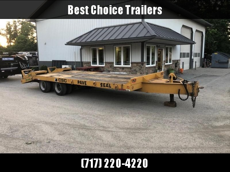 USED Eager Beaver 102x25+5' Beavertail Deckover Flatbed Trailer 47100# GVW * AIR BRAKES * FLIPOVER RAMPS * 2 SPEED JACK * OAK DECK