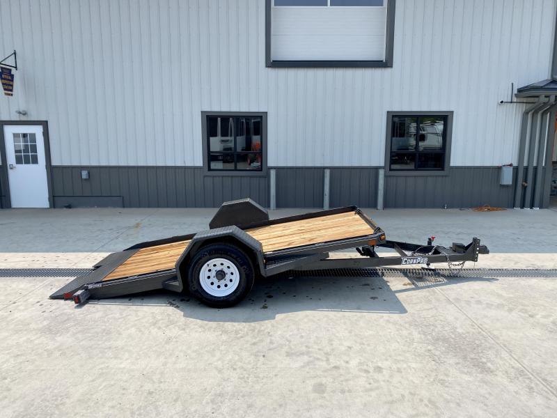 2021 Corn Pro 6x12' Single Axle Gravity Tilt Scissor Lift Hauler Equipment Trailer 5000# GVW * GRAY * TORSION * ADJUSTABLE COUPLER * CHANIN TRAY * RUBRAIL/STAKE POCKETS/D-RINGS