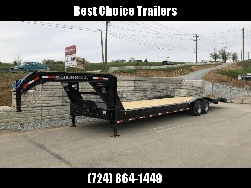 "2021 Ironbull 102x32' Gooseneck 2-Car Hauler Trailer 14000# GVW * OVERWIDTH RAMPS * 102"" DECK * DRIVE OVER FENDERS * BUGGY HAULER * DUAL JACKS * TOOLBOX"