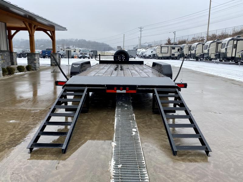2020 Top Hat Trailers 7x18' Equipment Trailer 14000# GVW * STAND UP RAMPS * ADJUSTABLE COUPLER * 12K DROP LEG JACK * SPARE TIRE * RUBRAIL/STAKE POCKETS * DIAMOND PLATE FENDERS