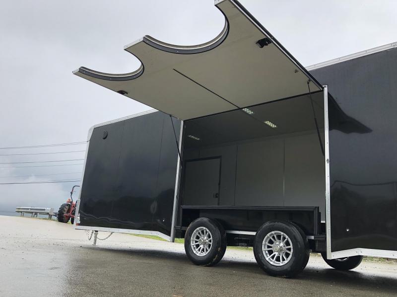 2021 Sure Trac Racing Pro Enclosed Car Hauler Trailer * STBNRP10224TA-100 * NEW MODEL * LOADED * FULL ESCAPE HATCH * BLACK