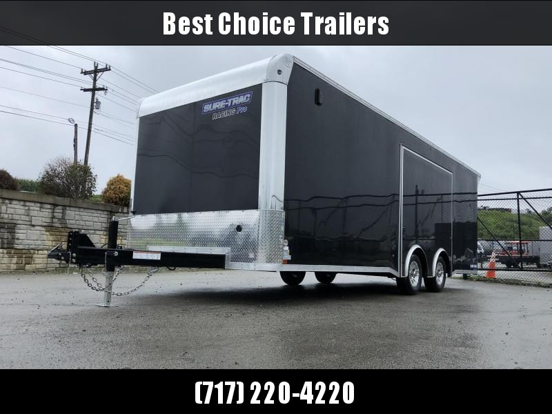 2021 Sure Trac Racing Pro Enclosed Car Hauler Trailer * STBNRP10224TA-100 * NEW MODEL * LOADED * FULL ESCAPE HATCH * BLACK