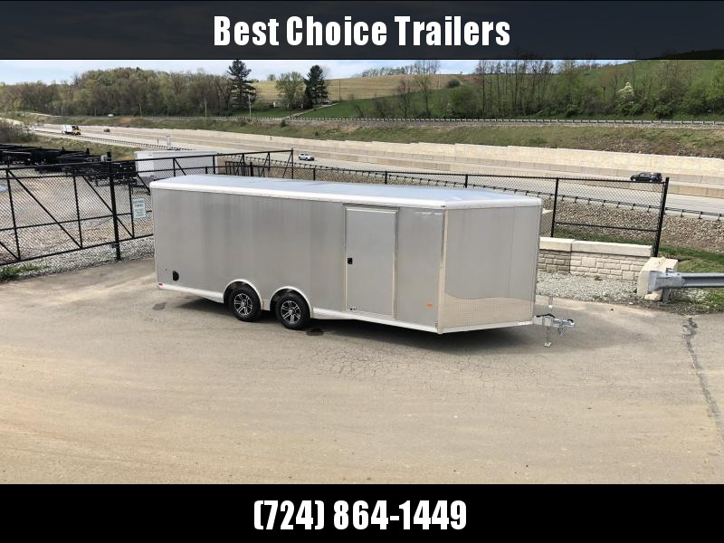 2021 NEO 8.5x22' NCBS Aluminum Enclosed Car Trailer 9990# GVW * NUDO FLOOR/RAMP * FULL ESCAPE DOOR * SPREAD AXLE * INTEGRATED FRAME * REAR SPOILER * ALUMINUM WHEELS * SCREWLESS * 1PC ROOF * RV DOOR * NXP LATCHES