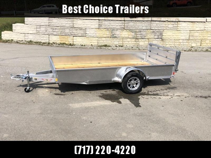 2021 H&H 6.5x10' 2990# gvw aluminum utility trailer h7610ssa-030