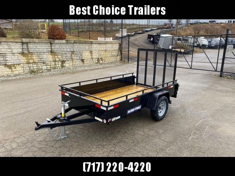 "2021 Sure-Trac 5x8' Solid Side Utility Landscape Trailer 2990# GVW * 2X2"" TUBE GATE C/M + SPRING ASSIST * FOLD FLAT GATE * TOOLESS GATE REMOVAL * SPARE MOUNT * PROTECTED WIRING * SET BACK JACK * TRIPLE TUBE TONGUE * HD FENDERS * TUBE BUMPER * HIGH SIDE"