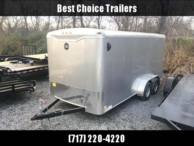 "2020 Wells Cargo 7x16' Road Force Enclosed Cargo Trailer 7000# GVW * SILVER EXTERIOR * RAMP DOOR * ROUND TOP * SCREWLESS .030 EXTERIOR * 6'6"" HEIGHT * TUBE STUDS * 1 PC ROOF * 16"" O.C. WALLS/FLOOR * RV DOOR * ARMOR GUARD * BULLET LED'S"