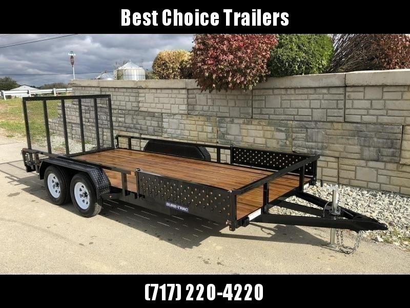 2021 Sure-Trac 7x16' Tube Top ATV Side Ramps Utility Landscape Trailer 7000# GVW