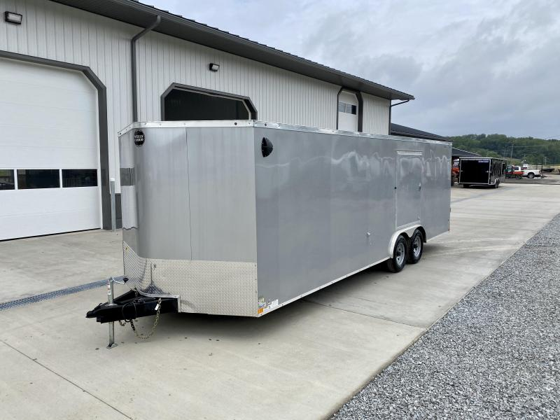 "2020 Wells Cargo 8.5x24' RoadForce Enclosed Car Trailer 9990# GVW * SILVER EXTERIOR * 5200# AXLES * RAMP DOOR * SCREWLESS .030 EXTERIOR * 6'6"" HEIGHT * TUBE STUDS * 1 PC ROOF * 16"" O.C. WALLS/FLOOR * RV DOOR * ESCAPE HATCH * TORSION"