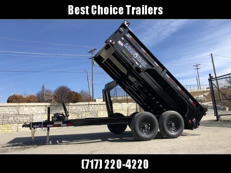 """2021 Load Trail 6x12' Dump Trailer 9990# GVW * 2' SIDES * 3-WAY GATE * I-BEAM FRAME * TARP KIT * SCISSOR HOIST * 16"""" 10-PLY RUBBER * 6"""" TUBE BED FRAME * 110V CHARGER * ADJUSTABLE COUPLER * 7K JACK * 10GA 2PC SIDES/FLOOR * INTEGRATED KEYWAY * PRIMER"""