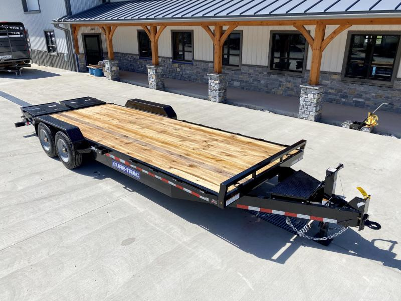 "2021 Sure-Trac 7x22' Equipment Trailer 16000# GVW * 8000# AXLE UPGRADE * 17.5"" 16-PLY RUBBER * OIL BATH HUBS * FULL WIDTH RAMPS W/ SPRING ASSIST * 3 3/8"" BRAKES * 8"" TONGUE * HD COUPLER * 12K JACK * RUBRAIL/STAKE POCKETS/D-RINGS * SPARE MOUNT"