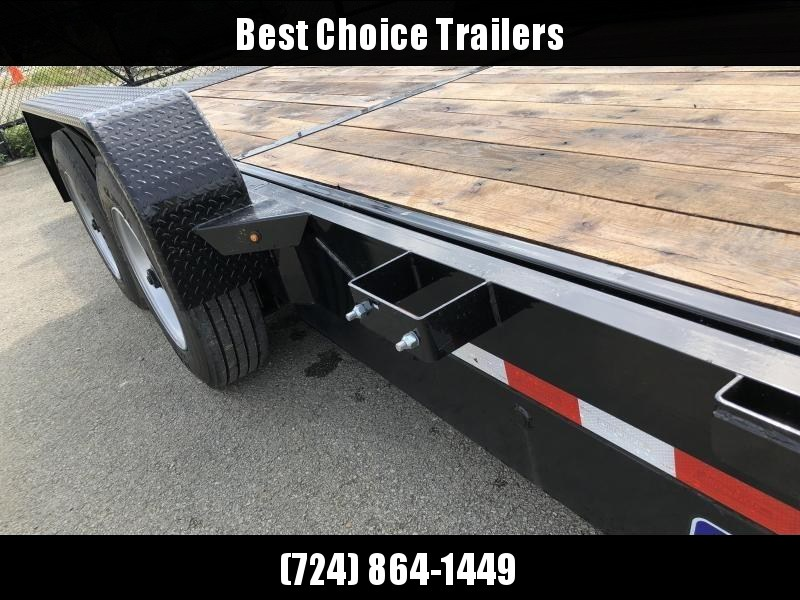 "2020 Sure Trac 7x22' Gravity Tilt Equipment Trailer 16000# GVW * OAK DECK * 8000# AXLE UPGRADE * 18+4' SPLIT DECK * 17.5"" 16-PLY RUBBER * 3 3/8"" BRAKES * 8"" TONGUE/FRAME/BEDFRAME UPGRADE * HD COUPLER * 12K JACK * RUBRAIL/STAKE POCKETS/D-RINGS * SPARE MOUN"