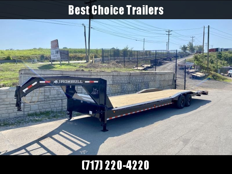 "2021 Ironbull 102x34' Gooseneck 2-Car Hauler Trailer 14000# GVW * FULL WIDTH RAMPS * 102"" DECK * DRIVE OVER FENDERS * BUGGY HAULER * DUAL JACKS * TOOLBOX"