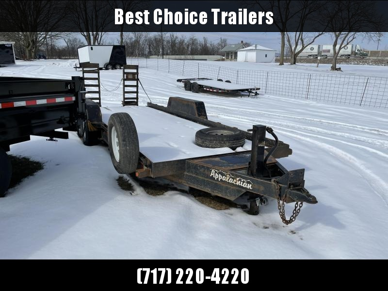 USED 2013 Appalachian 7x20' 14000# Equipment Trailer * SPARE TIRE * PAN FRAME * TOOLBOX * HD COUPLER