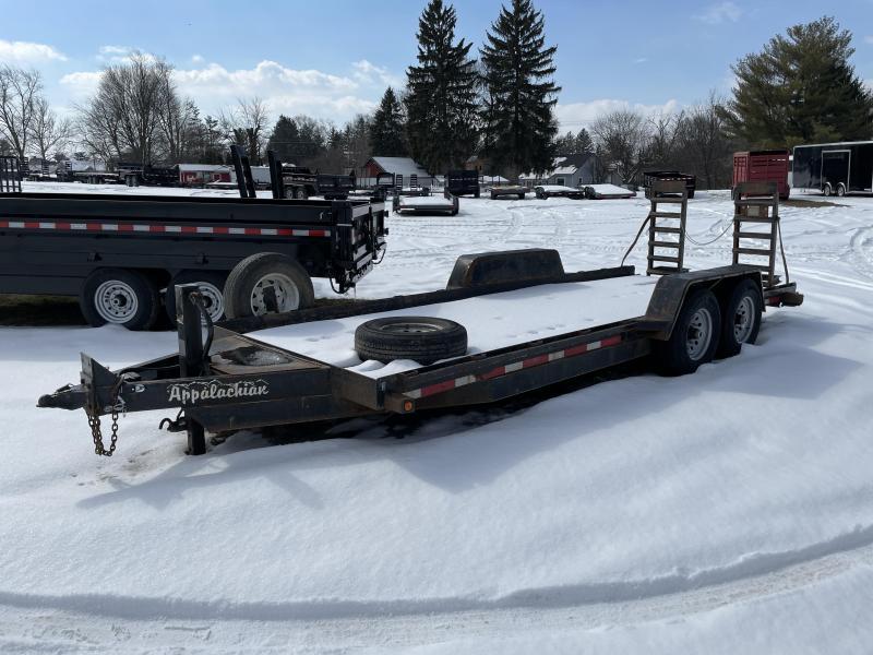 USED 2013 Appalachian 7x20' 14000# Equipment Trailer * SPARE TIRE * PAN FRAME * TOOLBOX * HD COUPLER