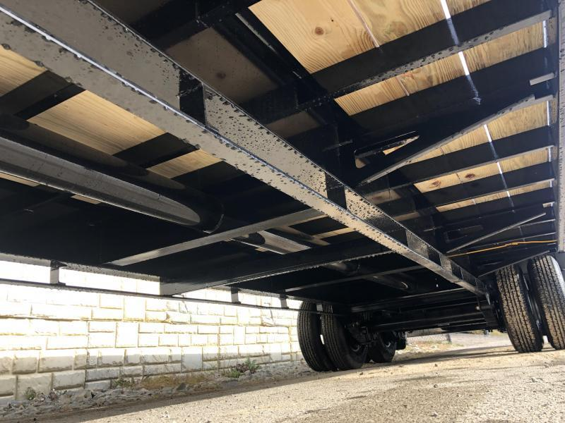 "2020 Ironbull 102x26' Pintle Beavertail Deckover Trailer 30000# GVW * 15000# DEXTER'S * FULL WIDTH RAMPAGE RAMPS * PIERCED FRAME * UNDER FRAME BRIDGE * TORQUE TUBE * 17.5"" RUBBER * MUD FLAPS"