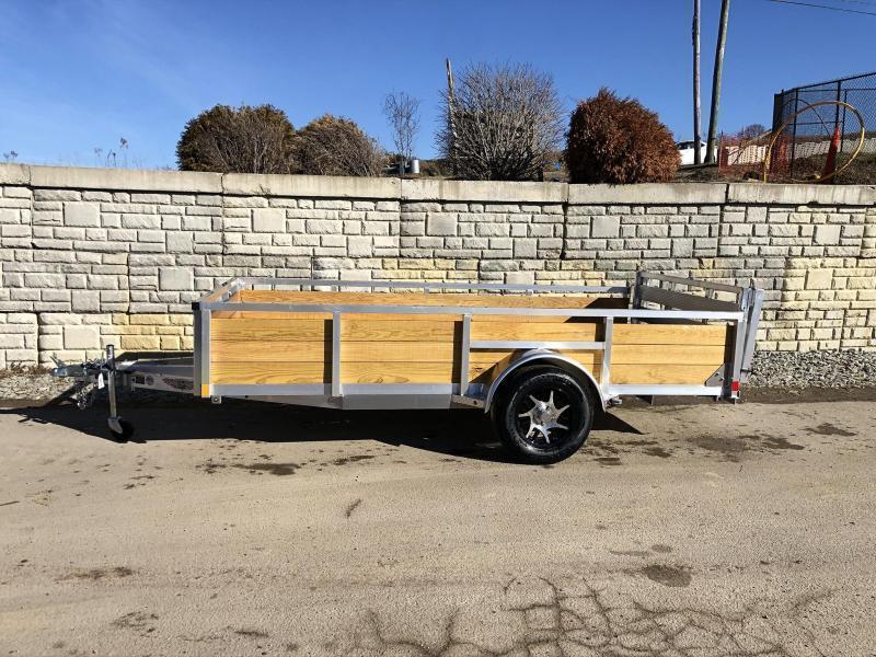 "2020 H and H 76x10' Aluminum Wood High Side Utility Landscape Trailer 2990# GVW * 2' HIGH SIDES * BI FOLD GATE * ALUMINUM WHEELS * TUBE TOP * TRIPLE TUBE TONGUE * TUBE TONGUE * SWIVEL JACKS * STAKE POCKETS * EXTENDED 54"" GATE"